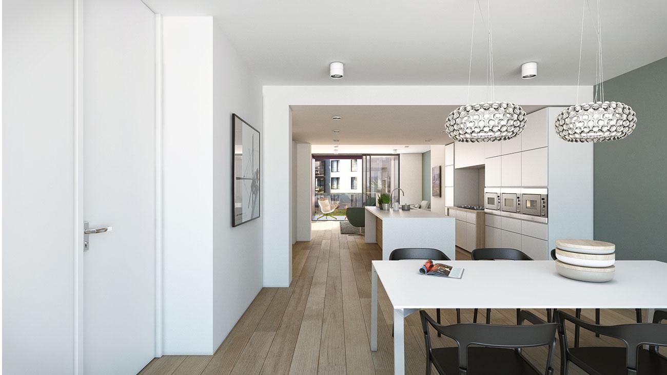 Residentie da vinci luxueuze penthouse te koop centrum for Appartement gent