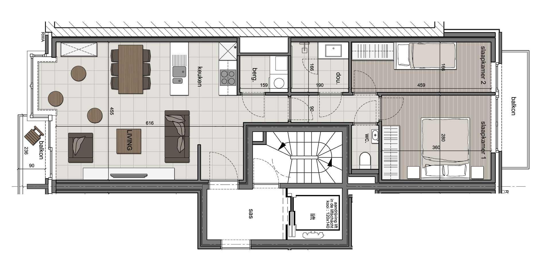 Residentie <br /> Winoc - image appartement-te-koop-koksijde-residentie-winoc-3.1-4.1 on https://hoprom.be