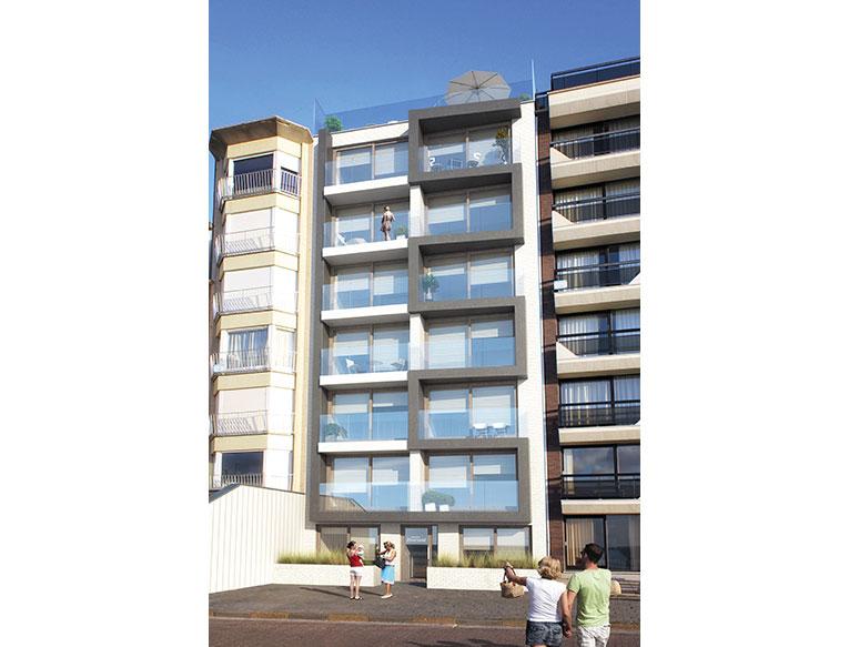 Residentie <br/> Zilverzand - image appartement-te-koop-koksijde-residentie-zilerzand-gevel on https://hoprom.be