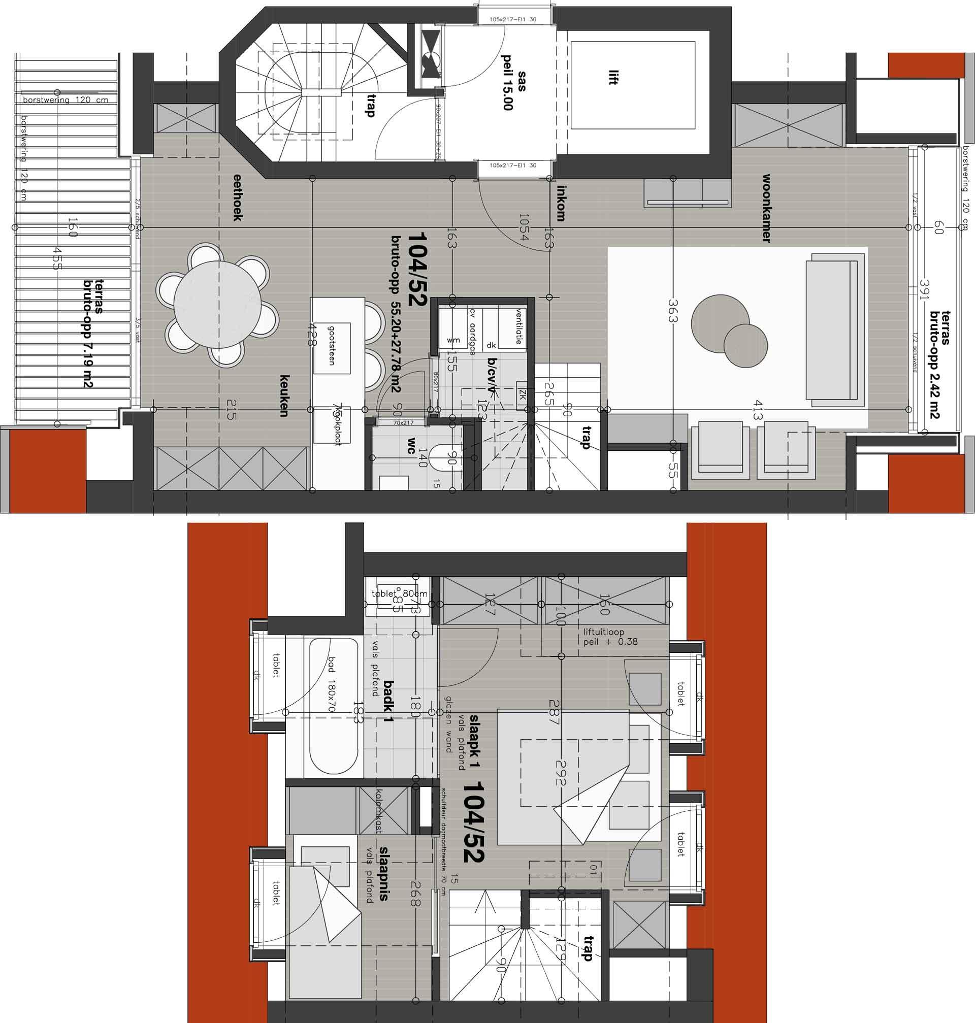 Residentie <br/> Chagall - image appartement-te-koop-knokke-heist-residentie-chagall-plan-52-variant on https://hoprom.be