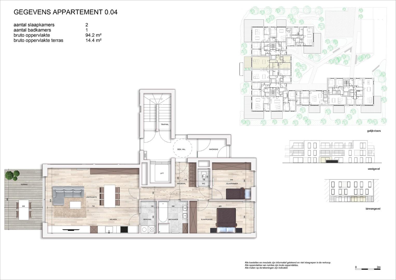 Villa<br/> Duchamp - image 161040_AB_v2019_-Sheet-V-0-04-Verkoopsplan-Unit-0-04-Groot on https://hoprom.be