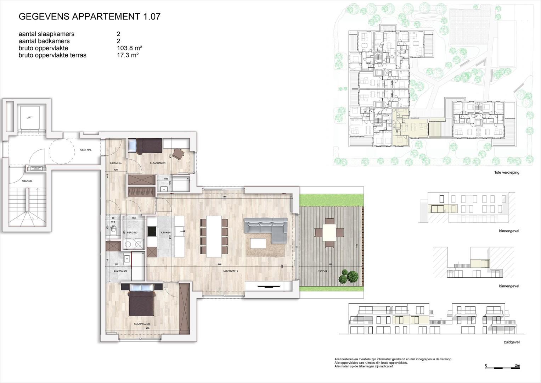 Villa<br/> Duchamp - image 161040_AB_v2019_-Sheet-V-1-07-Verkoopsplan-Unit-1-07-Groot on https://hoprom.be
